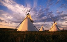 Sioux Teepee at Sunset - South Dakota
