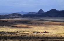 Ranch Scene Below Mitre Peak - Viewed From Davis Mountain... - Texas