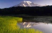 Reflection Lake in Morning Light - Washington