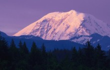 Snow-Covered Peak - Mount Rainier - Washington
