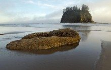 Sea Stacks at Second Beach - Olympic Park - Washington