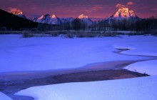 Winter Sunrise Light on the Teton Range - Grand Teton Park - Wyoming