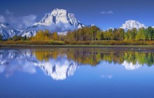 Mount Moran Reflected in the Snake River - Wyoming