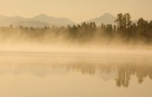 Yellowstone River at Sunrise - Wyoming