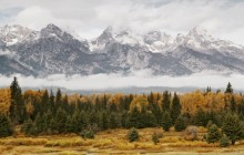 Mountains in the Mist - Grand Teton Park - Wyoming